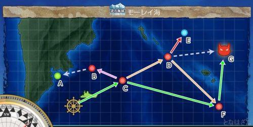 艦これ第二期3-1「モーレイ海」のマップ