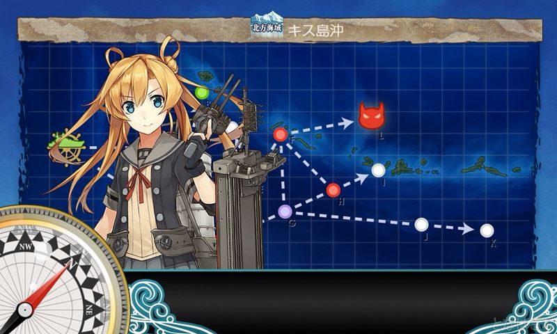 艦これ第二期3-2「キス島沖」に出撃時の阿武隈改二