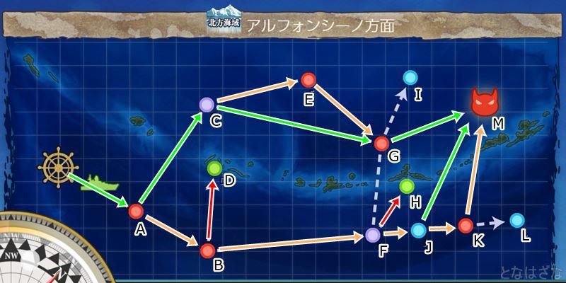 艦これ第二期3-3「アルフォンシーノ方面」のマップ