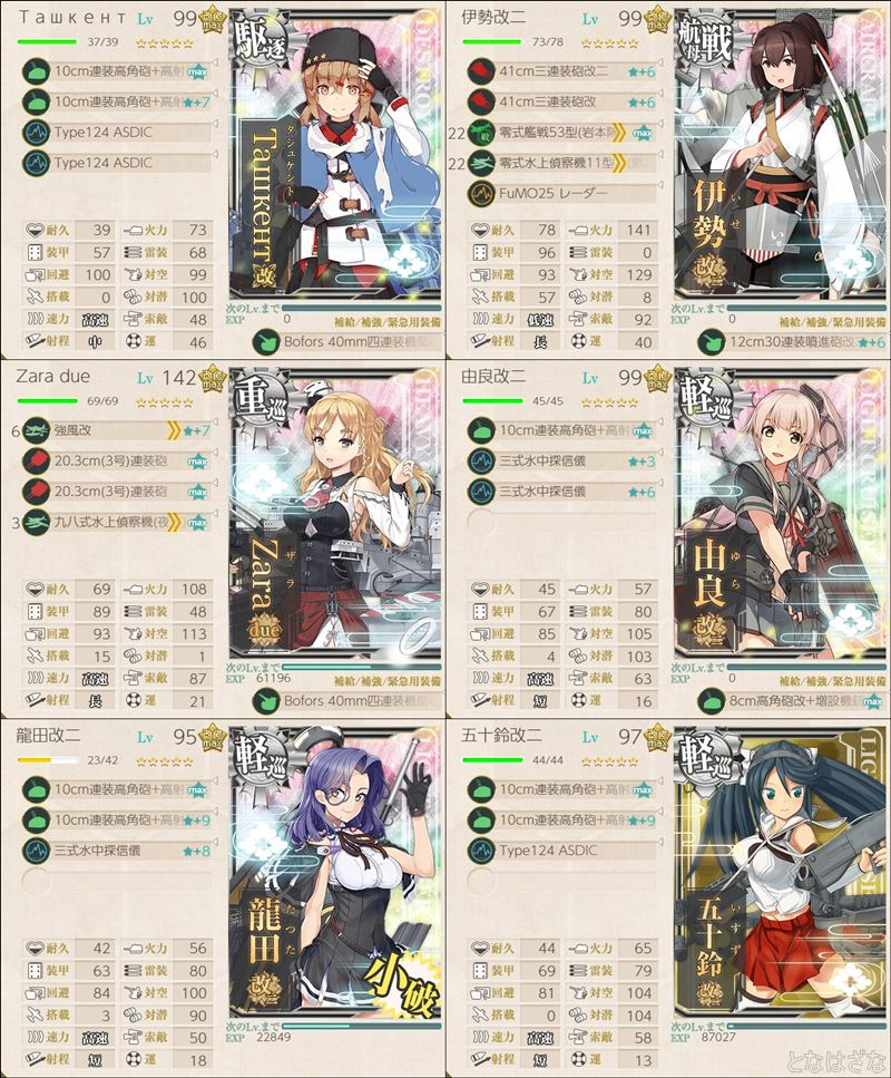 艦これ2018秋刀魚祭り1-6編成2