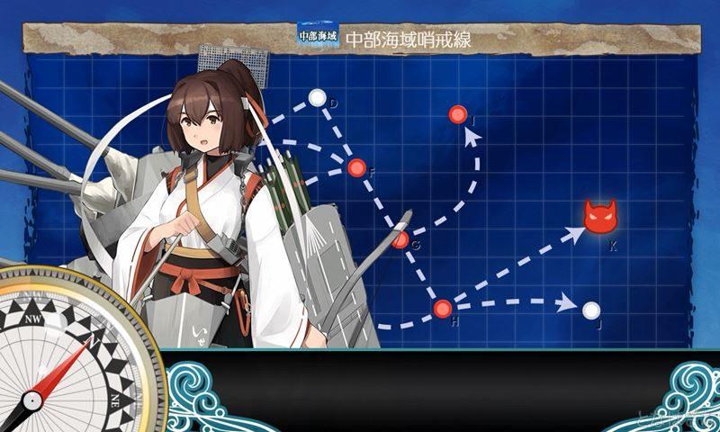 艦これ2018鎮守府秋刀魚祭り6-1に出撃時の伊勢