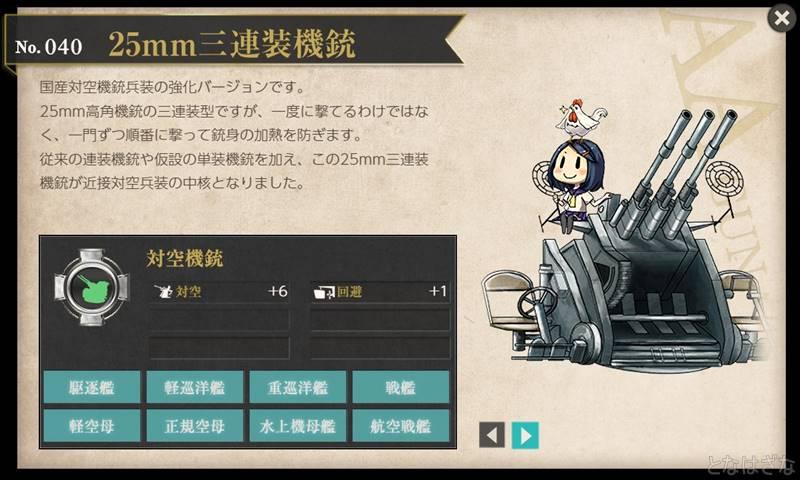 艦これ図鑑「25mm三連装機銃」