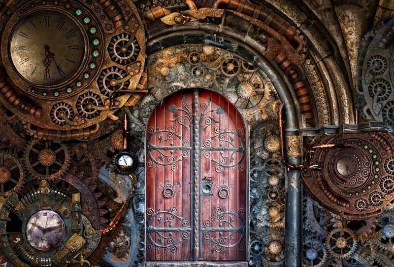 ドアと時計