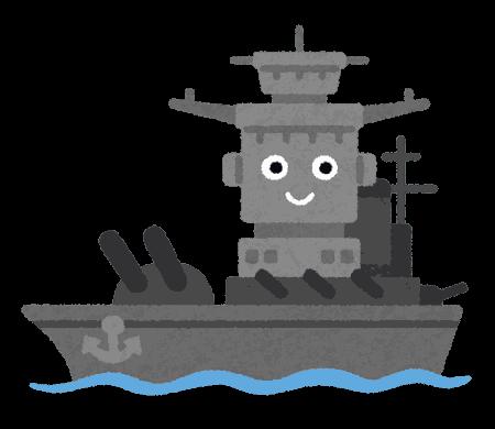 PNGoo イラスト屋の戦艦キャラクター 16色