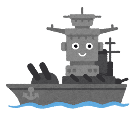PNGoo イラスト屋の戦艦キャラクター 32色