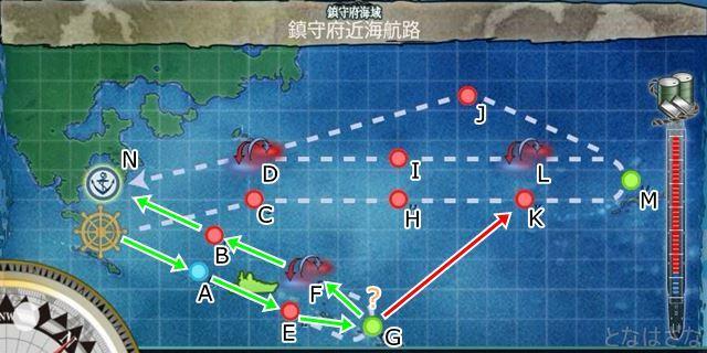 マップ ルート 1-6 鎮守府近海航路