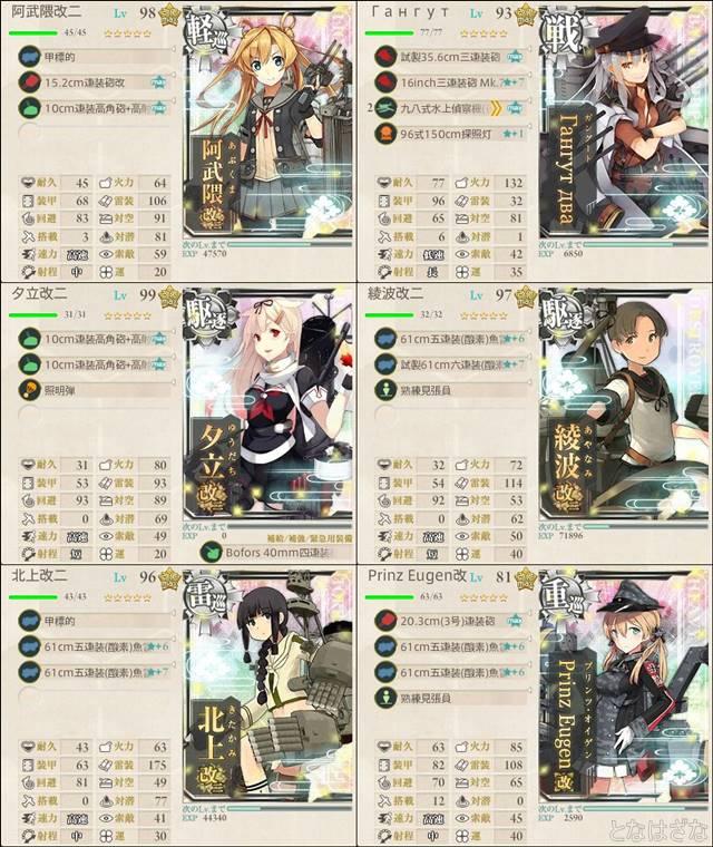 艦これ2017夏イベントE4甲後半 第二艦隊 小