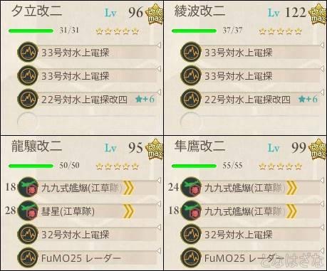 艦これ2017夏イベントE1甲 前衛支援編成