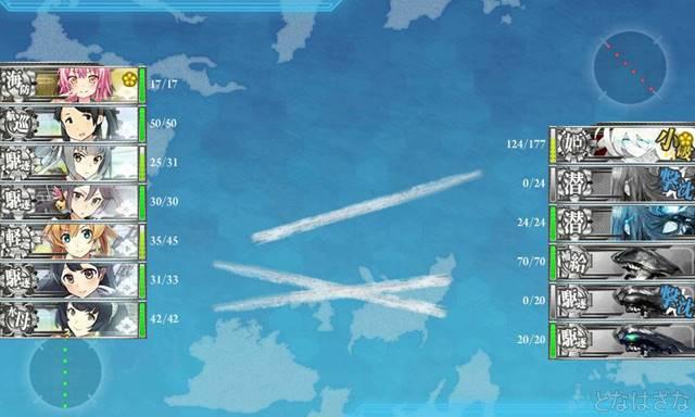 艦これ2017秋イベントE2丙Jマス掘り周回 終点4戦目Jマス 開幕雷撃