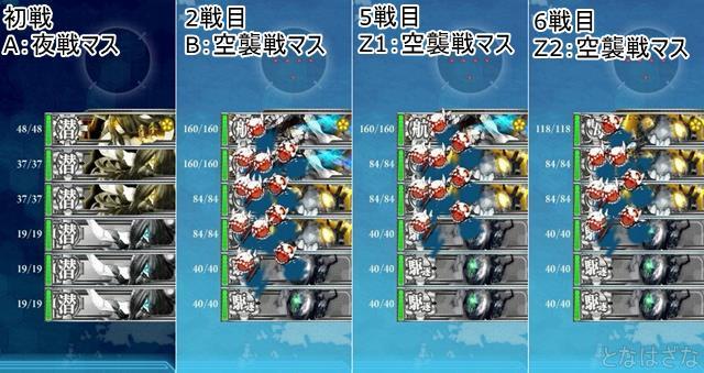 艦これ2017秋イベントE4甲第2ギミック Z1Z2ルート戦闘