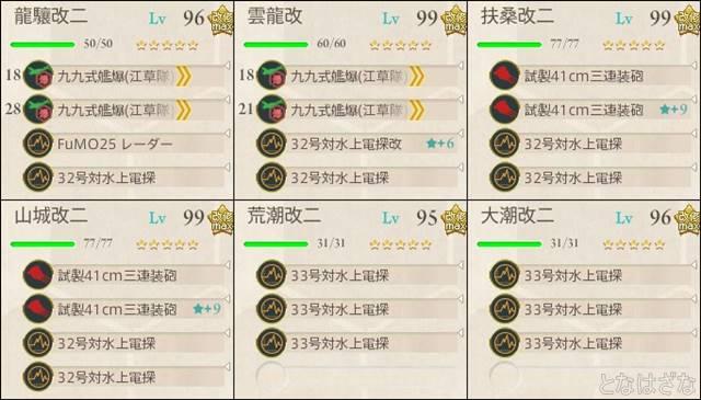 艦これ2017夏イベントE5甲 決戦支援艦隊