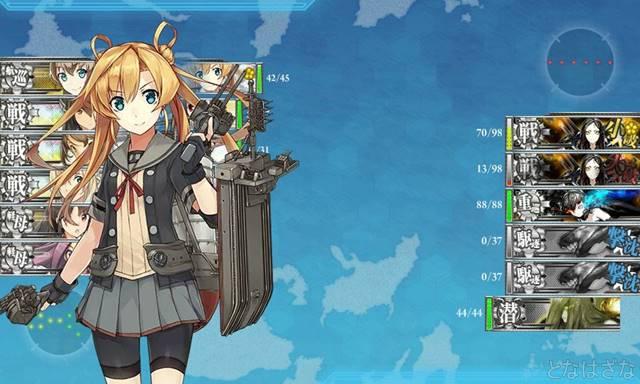 艦これ17春イベE3甲 戦力Rマス 砲撃戦 阿武隈