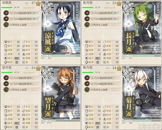 艦これ16冬季特別任務 1-1&2編成小
