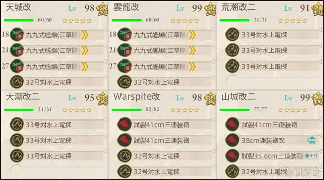 艦これ17春イベE3甲 決戦支援編成