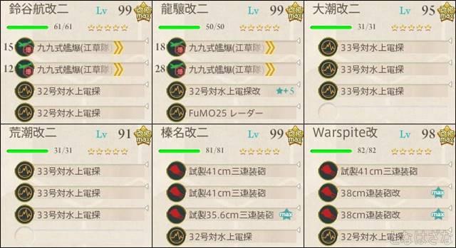 艦これ17春イベE4甲 決戦支援編成2