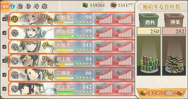 任務〈新編「第七戦隊」、出撃せよ!〉 6-2補給