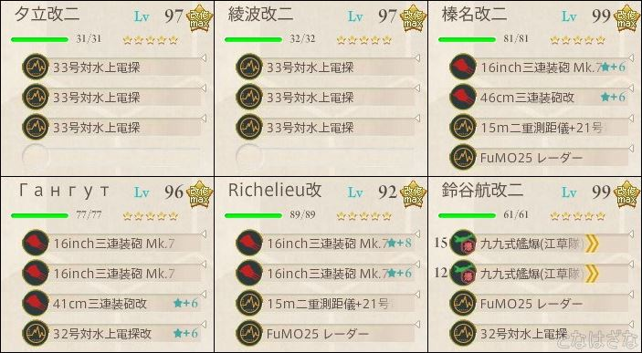 艦これ単発任務「最精鋭甲型駆逐艦、突入!敵中突破!」 5-3前衛支援