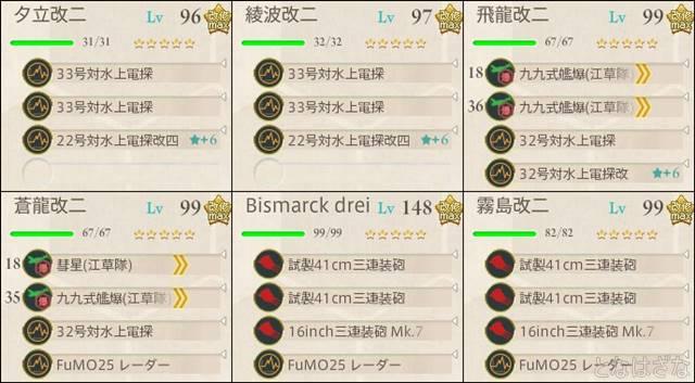 艦これ単発任務〈新編「第一戦隊」、抜錨せよ!〉 5-5前衛支援艦隊
