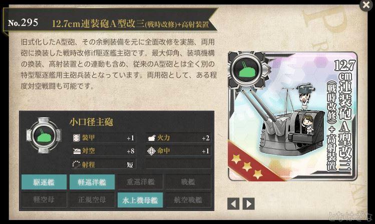 図鑑「12.7cm連装砲A型改三(戦時改修)+高射装置」