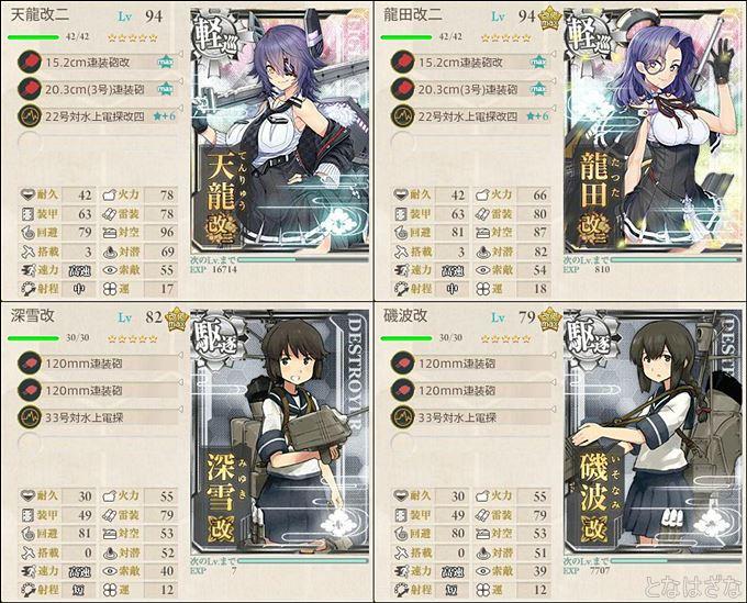 艦これ単発任務『精鋭「第十八戦隊」、展開せよ!』 1-2編成