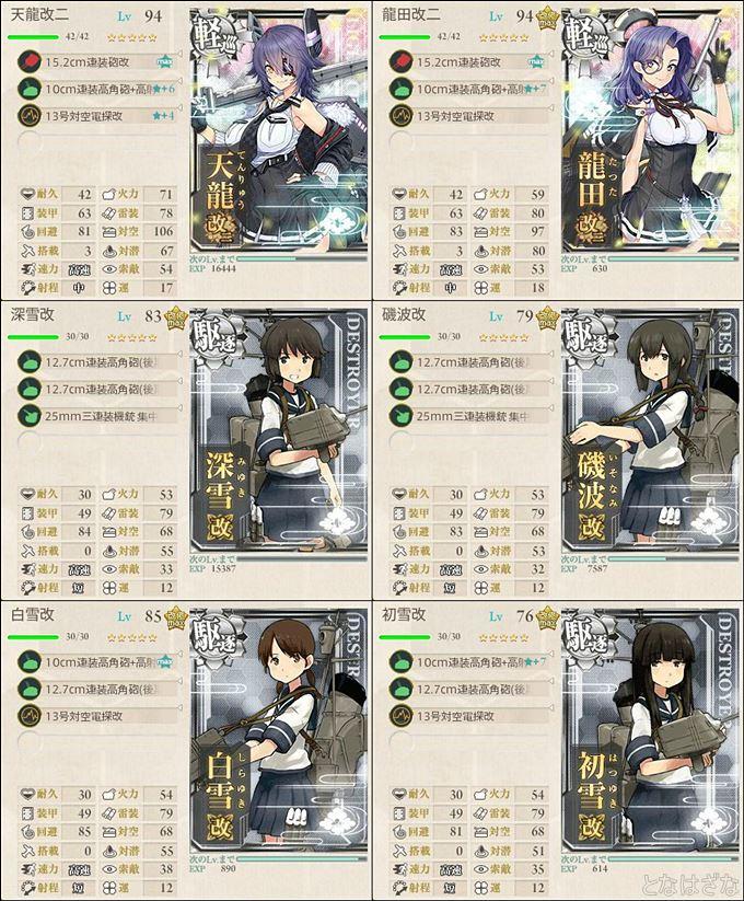 艦これ単発任務『精鋭「第十八戦隊」、展開せよ!』 1-4編成