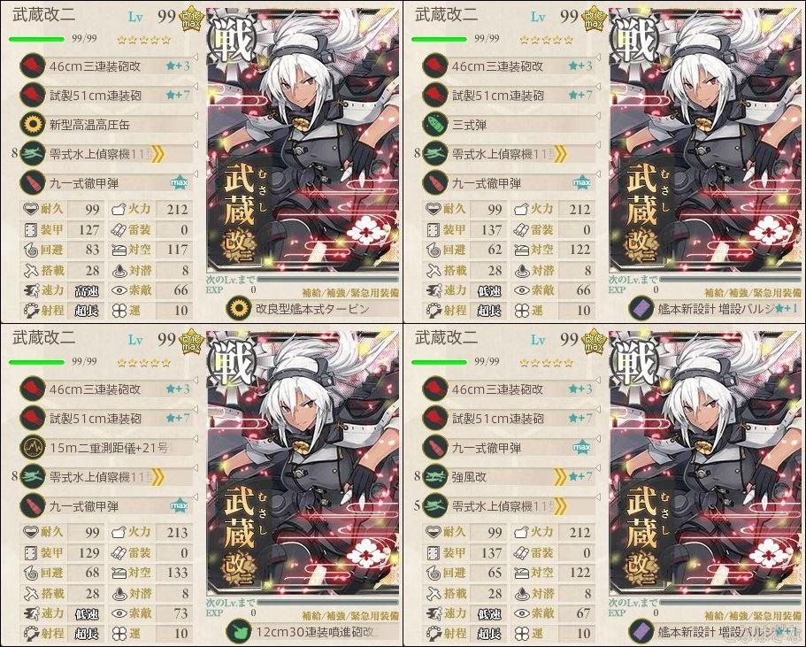 艦これ2018冬イベ新艦娘/改二/装備 武蔵改二 装備構成 大