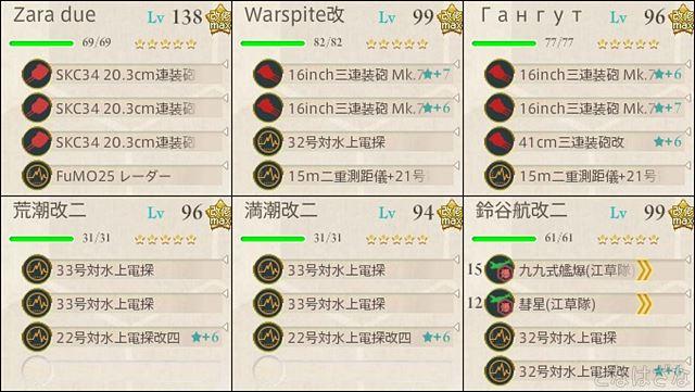艦これ2018冬イベントE6甲タシュケント掘り 支援艦隊