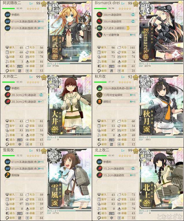 16冬イベE3甲戦力ゲージ ゲージ削り第二艦隊編成