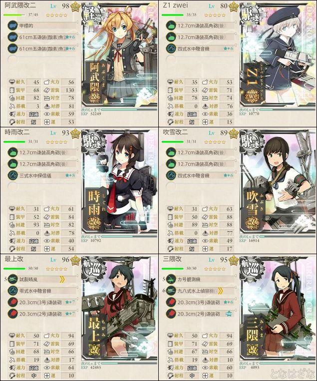 16冬イベE3甲(輸送作戦)掘り 高速第二艦隊編成