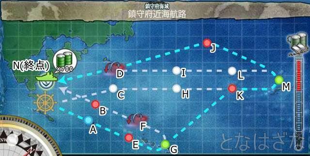 1-6「鎮守府近海航路」マップ 海図