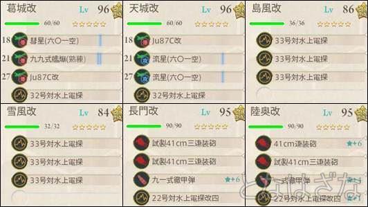 15夏イベE-2甲 決戦支援艦隊の編成・装備