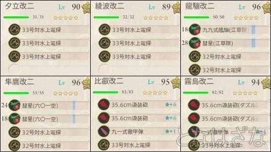 15夏イベE-2甲 前衛支援艦隊の編成・装備