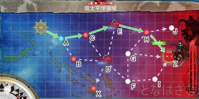 15夏イベE-3甲 南太平洋海域 マップ・海図