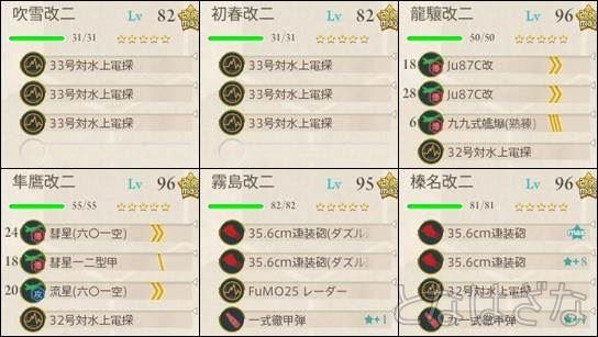 15夏イベE-6甲 前衛支援艦隊の編成・装備