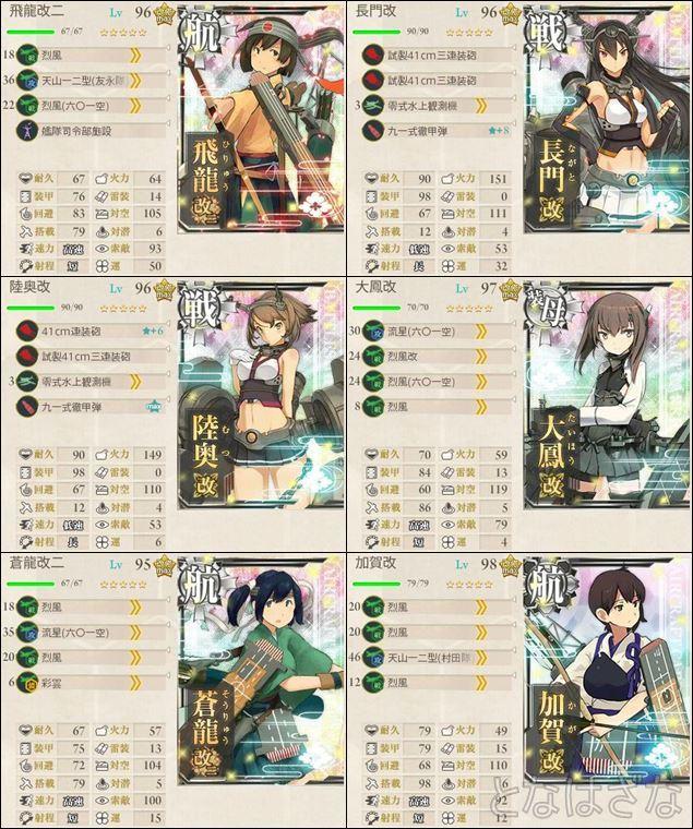 15夏イベE-6甲 第一艦隊の編成・装備