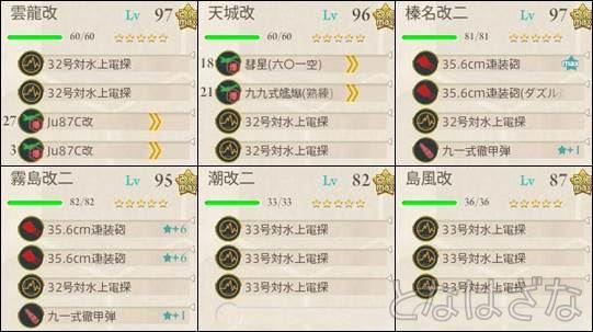 15夏イベE-7甲 決戦支援艦隊の編成・装備