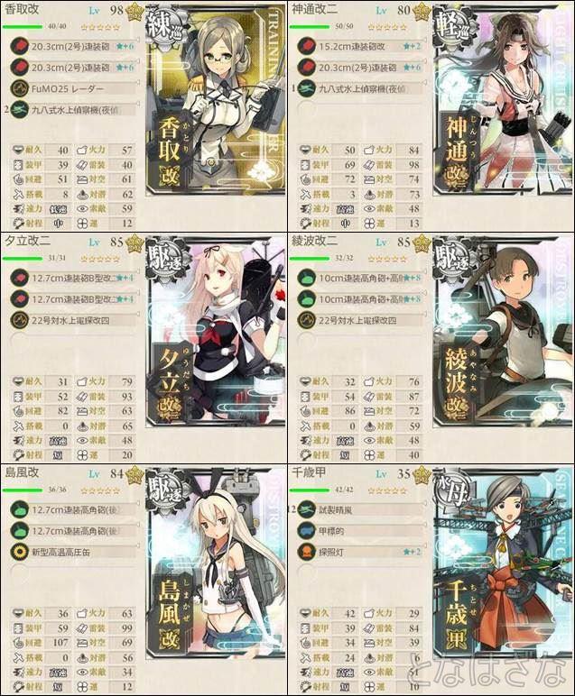 6-3 3戦固定ルート編成・装備