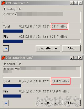 CarotDAV ファイルのアップロード
