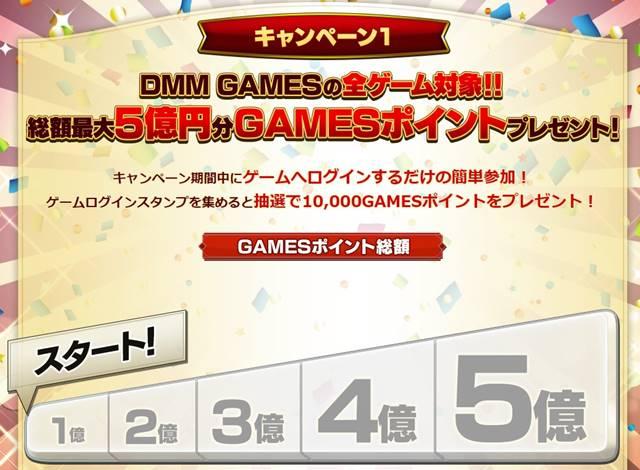 DMMGAMES 5週年記念感謝祭 キャンペーン1