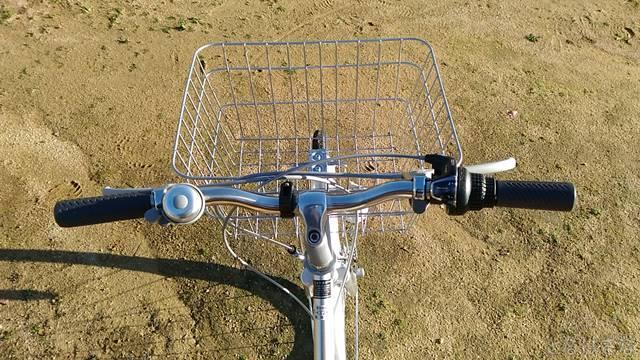 通販自転車シティサイクル フラットハンドル