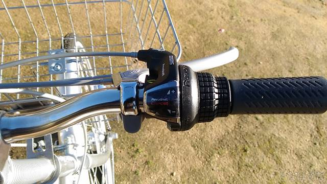 通販自転車シティサイクル 6段変速グリップ