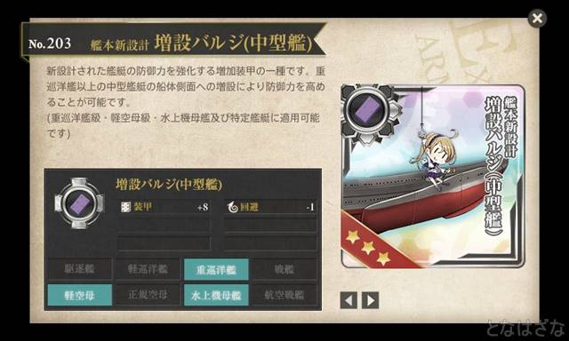 任務「重装甲巡洋艦、鉄底海峡に突入せよ!」 報酬の新バルジ