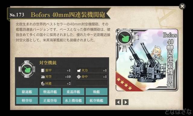16年3月戦果ランキング Bofors 40mm四連装機関砲 図鑑