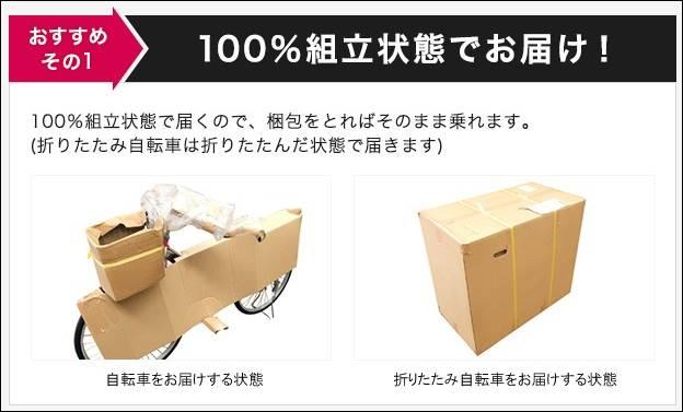 通販自転車シティサイクル 梱包引用画像