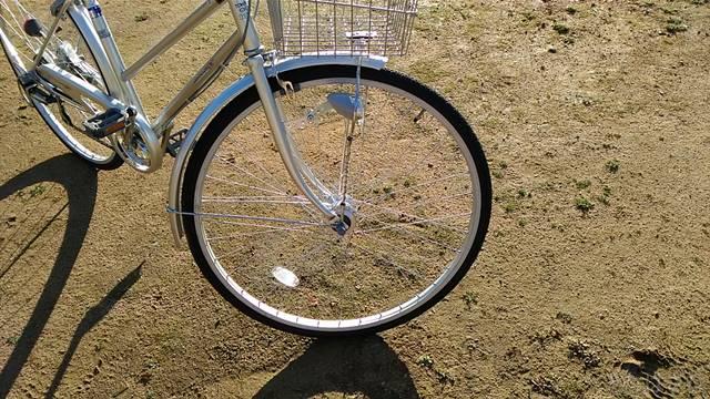 通販自転車シティサイクル 前輪
