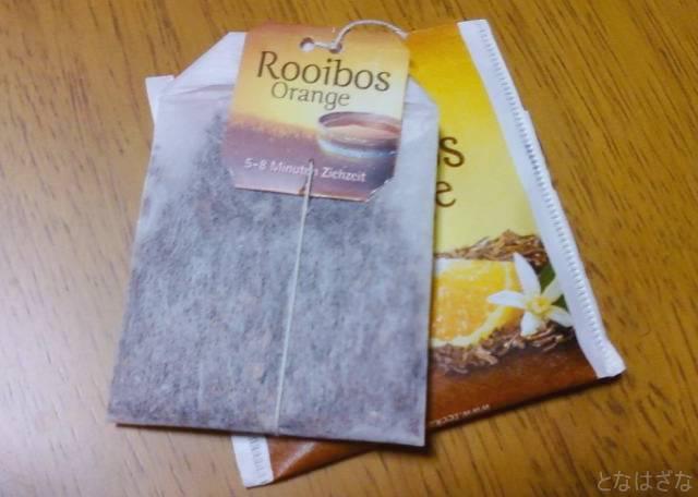 ポンパドール_ルイボスティースウィートオレンジ 個別包装とティーバッグ