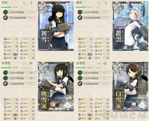 「第十一駆逐隊」対潜哨戒! 編成 装備