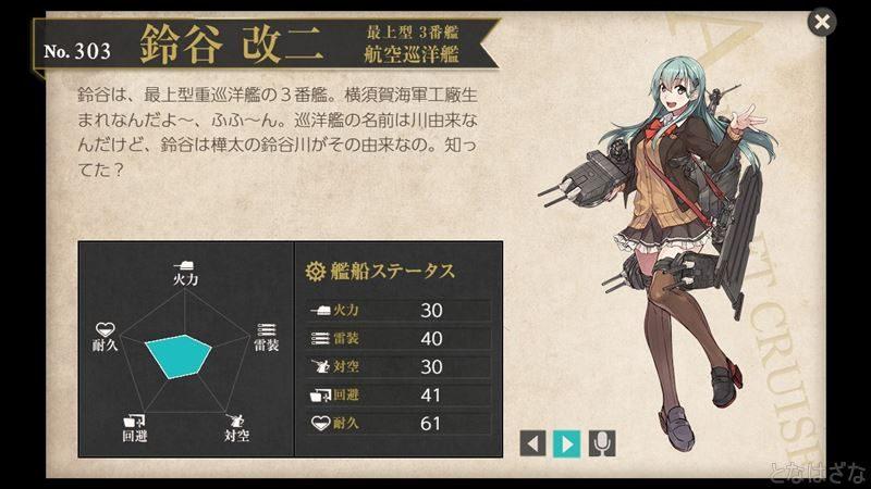 鈴谷改二の図鑑
