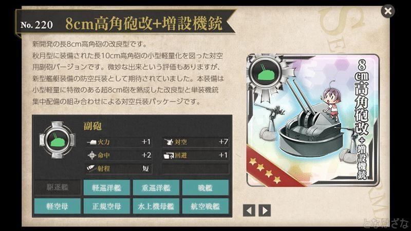 「8cm高角砲改+増設機銃」の図鑑
