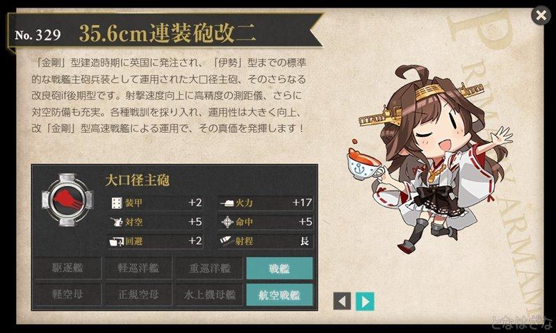 艦これ図鑑「35.6cm連装砲改二」